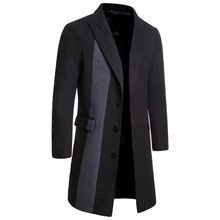A Mans Mens Clothes In Single Row of Buckles, Windbreaker, Black Woolen Coat, Gray Tweed Coat.