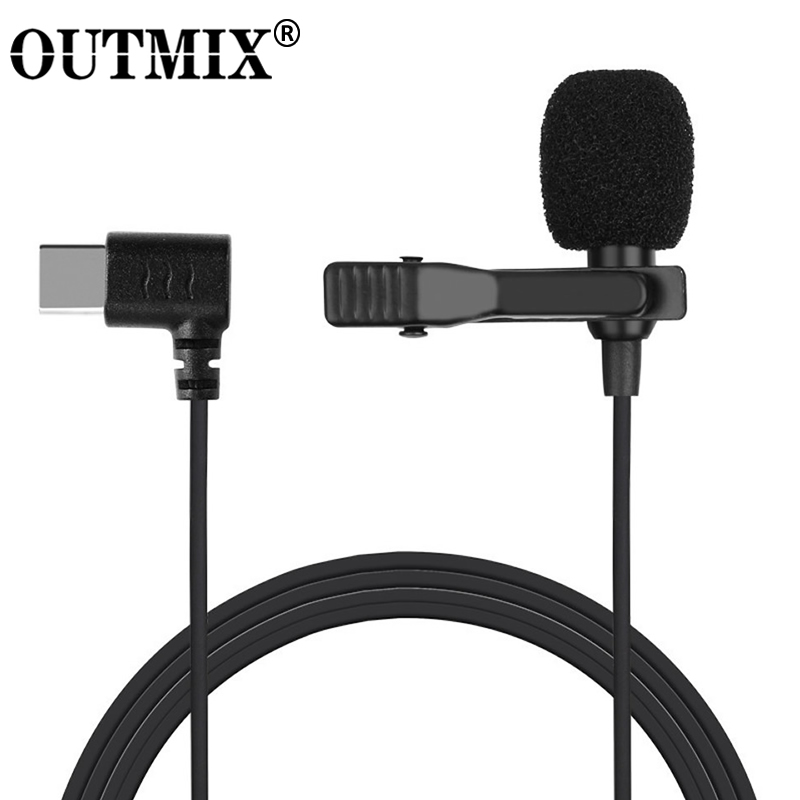 Mini Microphone Mic USB C Type-C Mic Condenser Audio Recording For Huawei Xiaomi Samsung Android Phone USB C Microphone