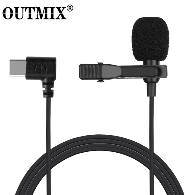 Mini Microphone Mic USB C Type C Mic Condenser Audio Recording For Huawei Xiaomi Samsung Android Phone USB C Microphone