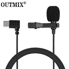 Мини микрофон USB C Type C, конденсаторный микрофон для звукозаписи для телефонов Huawei, Xiaomi, Samsung, Android