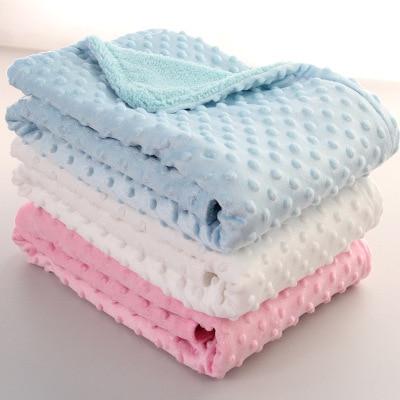 Baby Mattress Baby For Bed Sleeping Baby Blanket & Swaddling Newborn Thermal Soft Fleece Blanket Solid Bedding Set Cotton Quilt