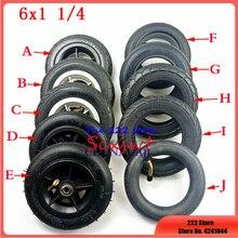 6 дюймов 6x1 1/4 шина твердое/Надувное колесо для маленького электрического скутера для серфинга 150 мм Внутренняя шина для мотоцикла складной в...