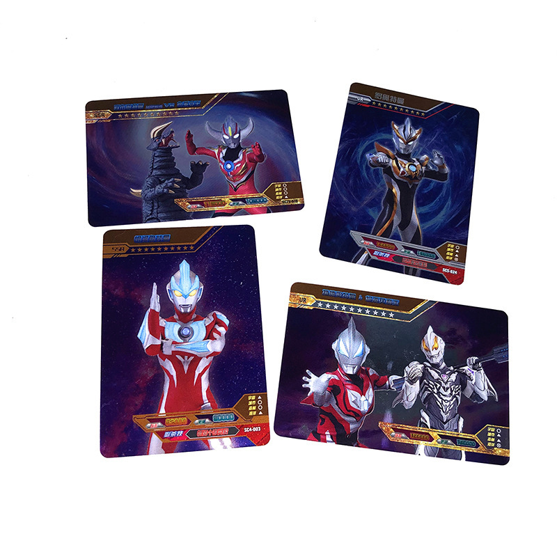 72pcs/set Ultraman Ultraman Belial Dragon Ball Jiren Game Action Toy Figures Commemorative Edition Collection Cards Ten Stars