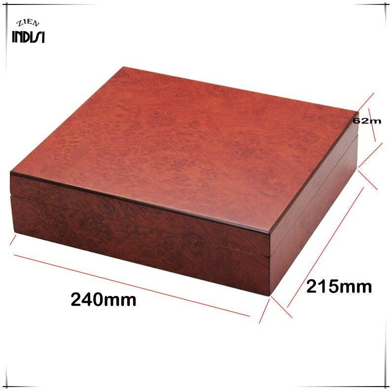 Madera de cedro viaje humidificador imanes higrómetro humidificador para Cohiba humidificador de puros caja de Navidad H 008 - 3