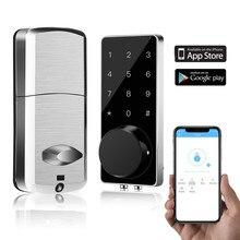 Smart Lock Keyless Entry Deurslot Nachtschoot Digitale Elektronische Bluetooth Deurslot Met Toetsenbord Auto Lock Thuis Touch Screen Lock