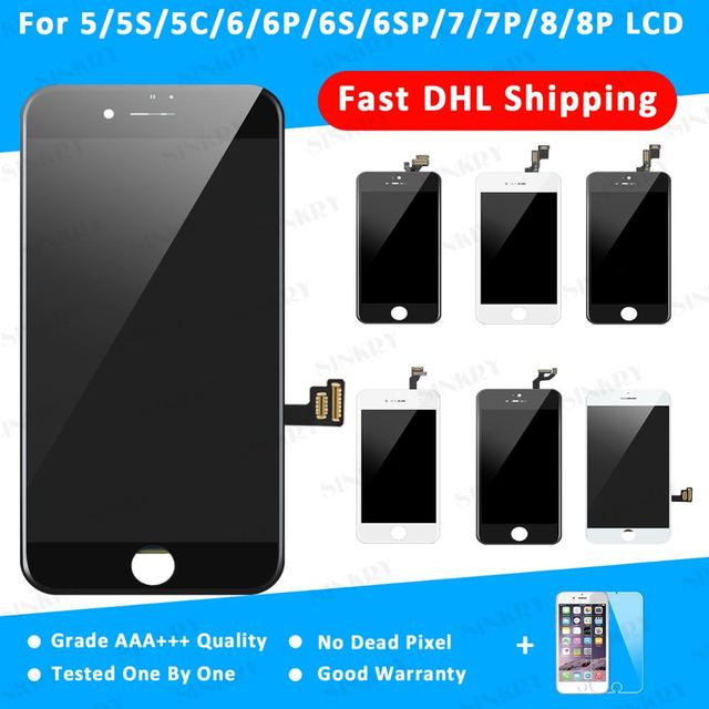 10 Piece DHL Shipping Replacement Touch Digitizer Assembly Grade AAA+ Display LCD For iPhone 5 5S 6 6S 7 8 Plus Screen