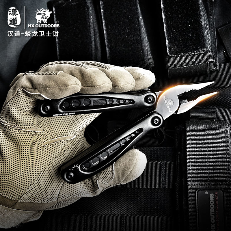 Hx Outdoors 440c EDC Tactical Pliers ,Hand tool Screwdriver Portable stainless Multitool pocket fold knife pliers Dropshipping