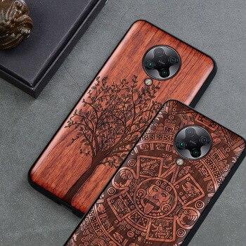 ¡Novedad de 2020! Carcasa delgada de madera para Xiaomi poco f2 pro, carcasa trasera de TPU con parachoques para Xiaomi Pocophone F2 Pro