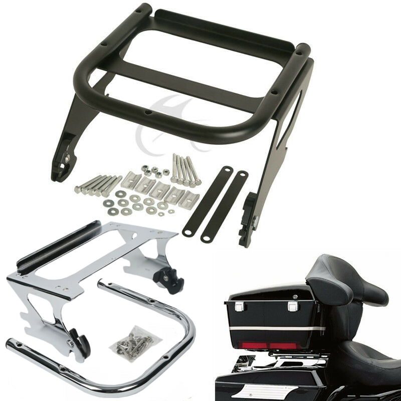 Motorcycle Detachable Two-up Tour Pack Pack Mount Luggage Rack For Harley Touring 97-08