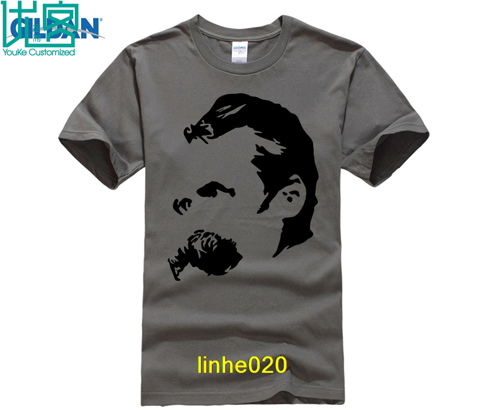 Friedrich Nietzsche Men's Premium Cotton Tee Shirts Short-sleeve Designer Shirts