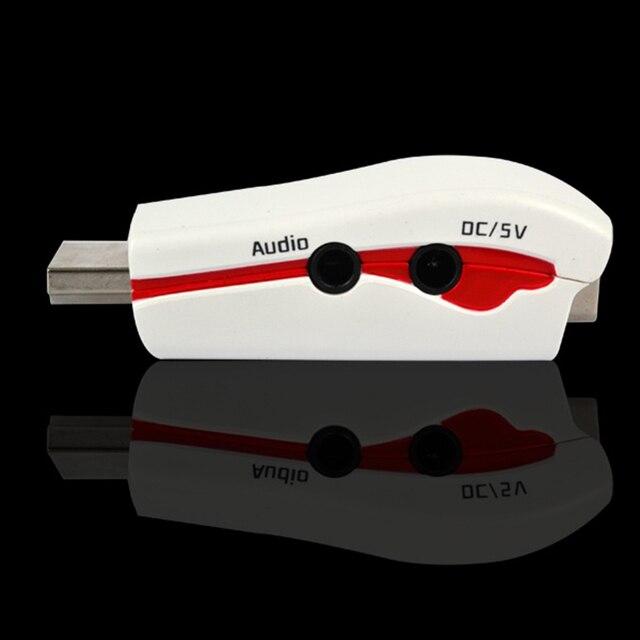 Adapter hdmi do vga męski na żeński złącze konwersyjne 1080P do tabletu Laptop HDTV DVD z kablem audio 3.5mm przewód zasilający usb