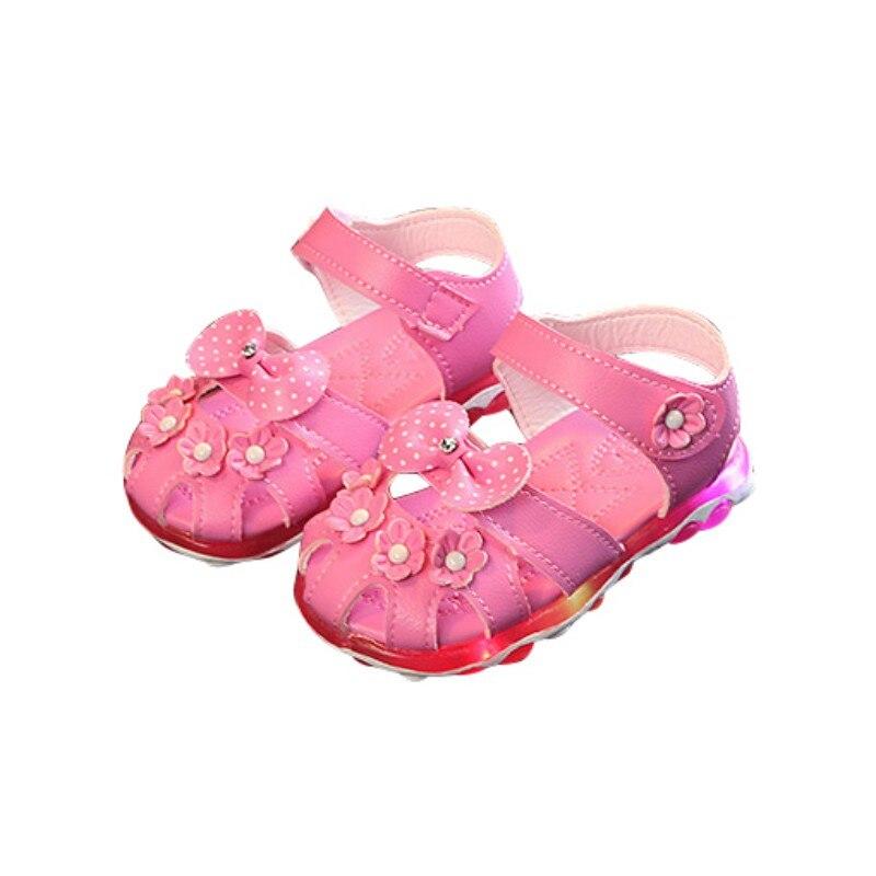 Hilittlekids Sports Leisure Princess Shoes Girls Sandals Summer Children Soft Non-Slip Prewalkers First Walkers