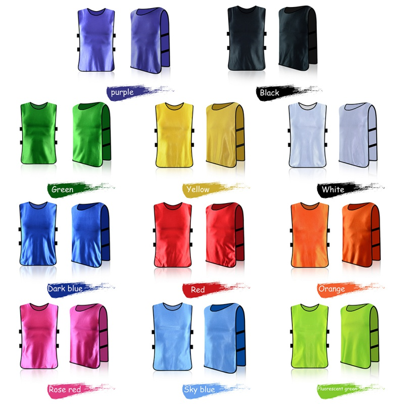 Adult/Child Football Soccer Kid Team Sports  Training Pinnies Jerseys Outdoor Quick-dry Breathable Training Bib Vest