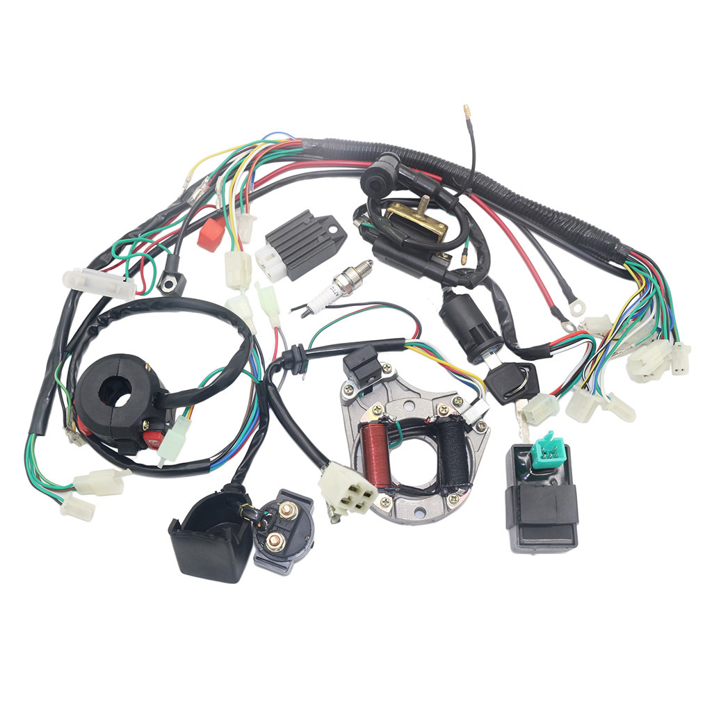 Complete Electrics Stator Coil CDI Wiring Harness for 4 Stroke ATV KLX 50cc 70cc 110cc 125cc Quad Bike Buggy Go Kart Pit Dirt