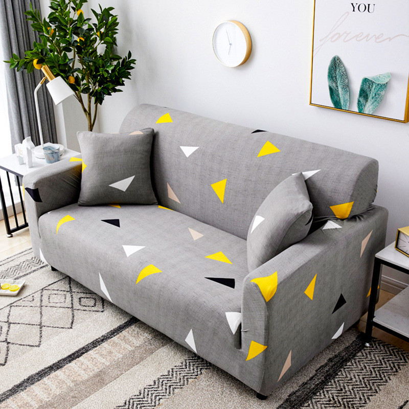 Elastic Stretch Sofa Cover for Living Room Morden Printed Floral Sectional Slipcovers Chair Couch Non-slip Cover 1/2/3/4 Seaters 1