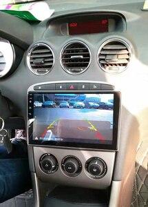 2din rádio do carro gps para peugeot 308 408 com android 8.1 wifi 4g quad core volante controle invertendo câmera apoio 2g + 32g