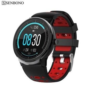 SENBONO Sport IP67 Waterproof Smart Watch Men Women Clock Heart Rate Sleep Monitor Smartwatch Fitness tracker Bracelet for phone 1