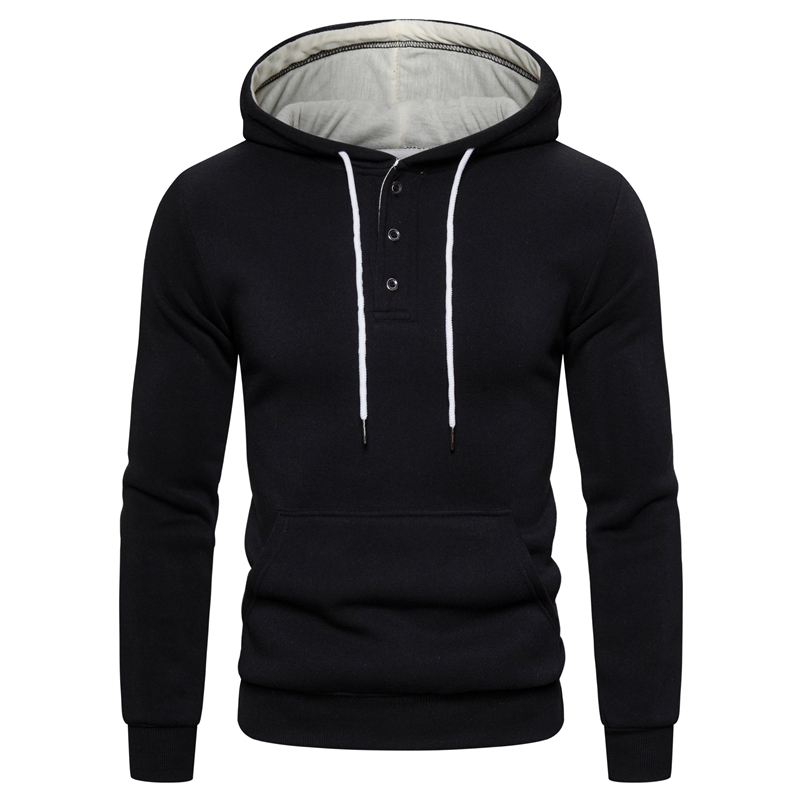 2019 New Autumn Winter Cotton Hoodied Mens Sweatshirts Solid Hoody Fleece Thick Hoodies Men Sportswear Zipper Sweatshirts Men 20