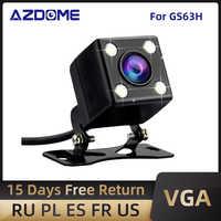 AZDOME-Cámara de Vista trasera de coche, Puerto Jack de vídeo con LED de visión nocturna para cámara de salpicadero GS63H M06, impermeable, 2,5mm (4 pines)