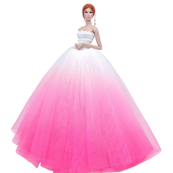 New Arrive Fashion Handmade Doll Accessories Long Tail Evening Party Wedding Dress Clothes For Barbie Dressing Game DIY Present e ting 1 6 fashion doll clothes western style dress lace wedding evening party girls suit hat veil accessories for barbie doll