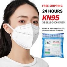 Dropshipping KN95 FFP2 Dustproof Anti virus Breathing Face Masks 95% Filtration N95 Mask KF94 reuseable dust mouth Facial mask