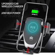 10W Car Mount Qi Wireless Charger For iPhone XS Max X XR 8 Fast Wireless Charging Car Phone Holder For Samsung Note 9 S9 S8 car mount 10w qi wireless charger magnetic phone holder stand for samsung s9 s8 qc3 0 quick fast car charger for iphone x 8