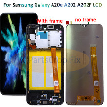 עבור סמסונג גלקסי A20e A202 A202F A202DS תצוגת מגע מסך Digitizer עצרת A202 A202F/DS לסמסונג A20e LCD עם מסגרת