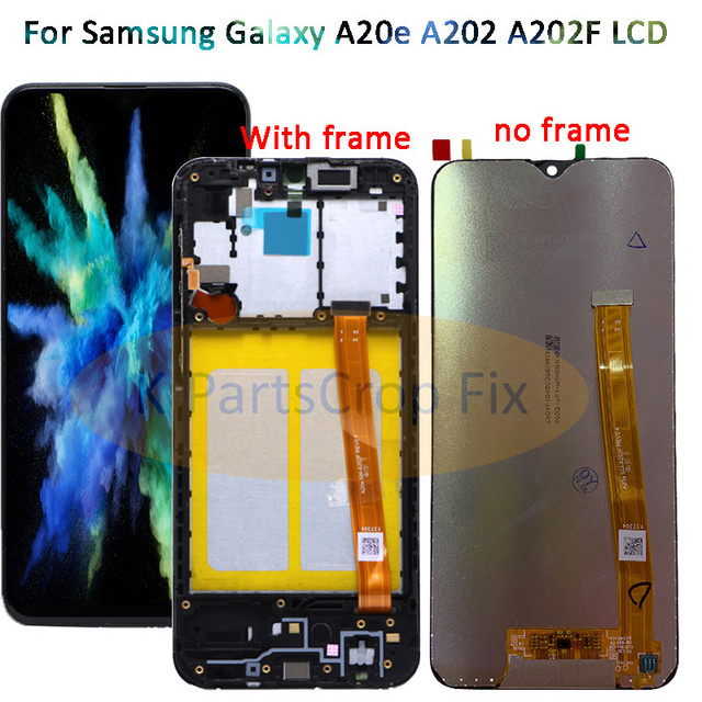 For Samsung Galaxy A20e A202 A202F A202DS Display Touch Screen Digitizer Assembly A202 A202F/DS For SAMSUNG A20e LCD with frame