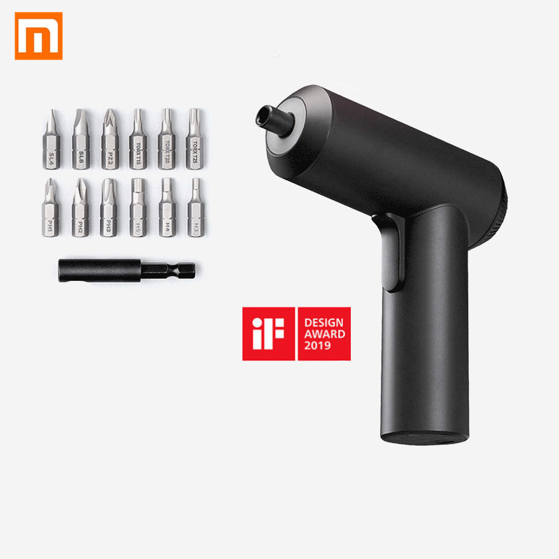 (In stock) Xiaomi Mijia Cordless Rechargeable Screwdriver 3.6V 2000mAh Li ion 5N.m Electric Screwdriver With 12Pcs S2 Screw Bits|Smart Remote Control| |  - title=