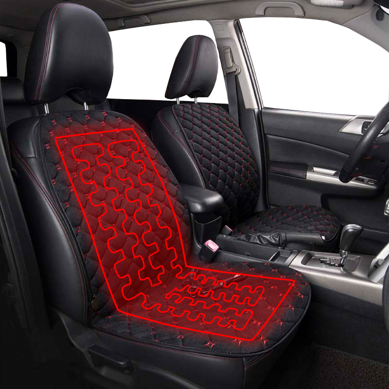 Universal 12V Car Heating Seat Cover Thermal Cushion Heater Mat Winter Non-slip