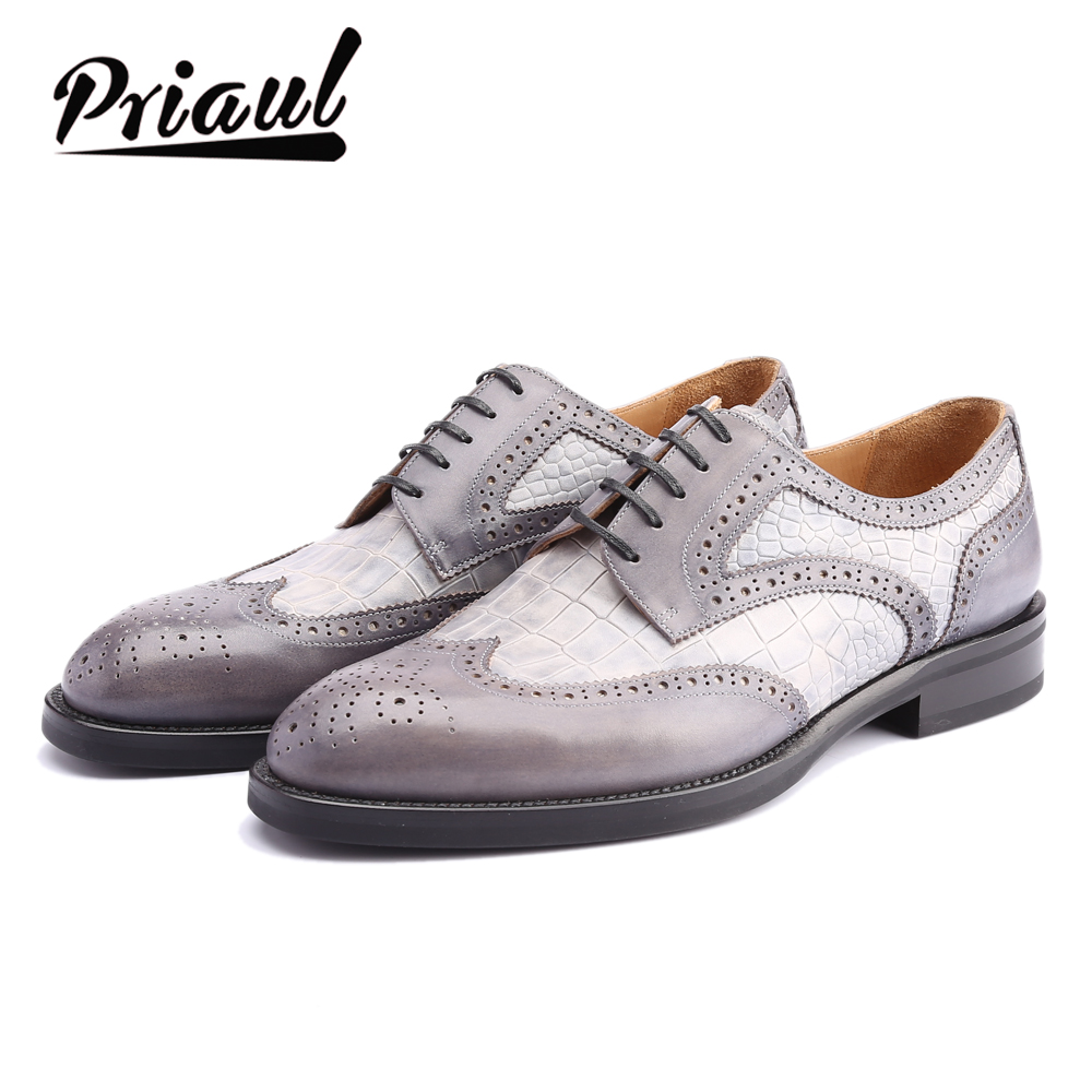 Derby Shoes Men Leather Dress Oxford Real Genuine Leather Wedding Office Fashion Luxury Formal Party Custom Brand Shoe Mens