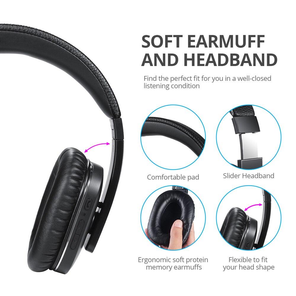 EP750 aptX activa Cancelación de ruido auriculares inalámbricos Bluetooth con micrófono auriculares Bluetooth ANC para viajes por aire - 5