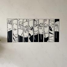 Xiao dos desenhos animados decalque da parede japonês manga adesivo de vinil estilo anime decoração interior removível decalques personalizados
