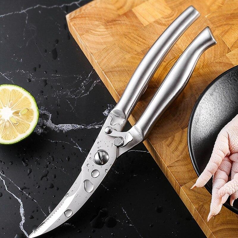 Tijeras de cocina corta hueso de aves de corral y pescado