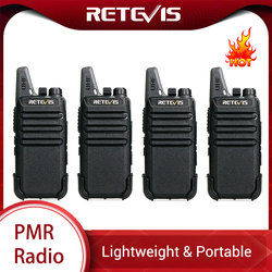 RETEVIS RT22 RT622 Mini Walkie Talkie 4 Uds PMR Radio PMR446 FRS VOX recargable dos Radio de mano Walkie-Talkie Walkie Talkie
