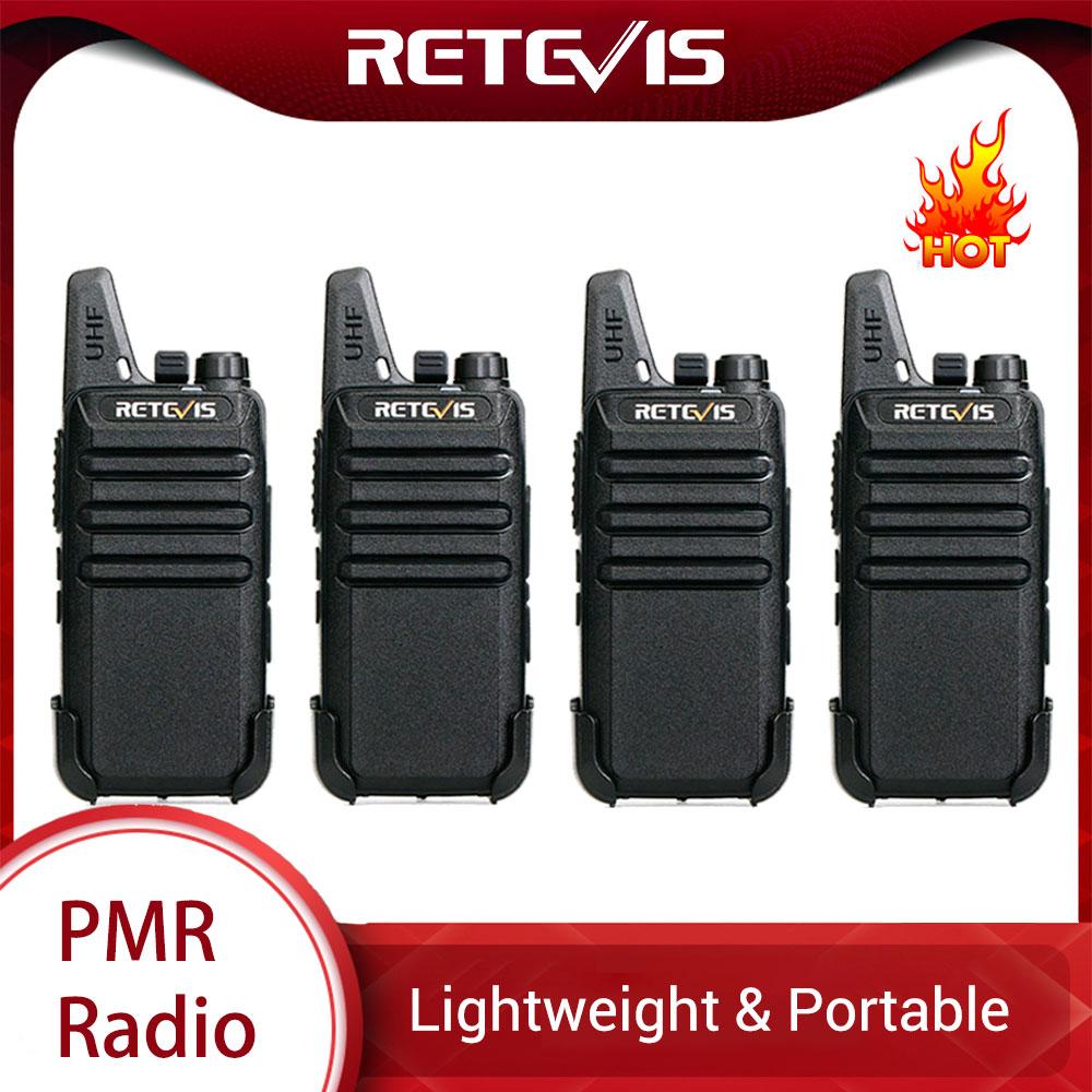 RETEVIS RT22 RT622 Mini Walkie Talkie 4pcs PMR Radio PMR446 FRS VOX Rechargeable Two-way Radio Handy Walkie-Talkie Talkie Walkie