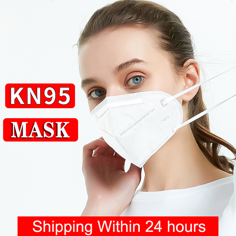 Cover Protective Face Mask 5-Ply Filtering Anti-Haze Fog PM2.5 Mask Nonwoven Dust Mask Dustproof N95 Safety Hygiene Earloop KN95