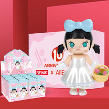 POPMART Molly Wedding Flower girl Toys figure blind box Action Figure Birthday Gift Kid Toy free shipping(China)