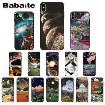 Vintage Trippy Art Aesthetic Colorful Cute Phone Case For iPhone 8 7 6 6S Plus 5 5S SE 11 11pro max XR X XS MAX Coque Shell image