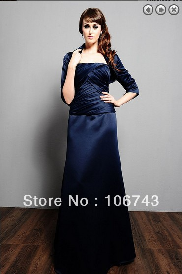 Free Shipping 2016 Maxi Dresses Plus Size Vestidos Formales Weddings Long Sleeve Mother Of The Bride Gown Dresses With Jacket