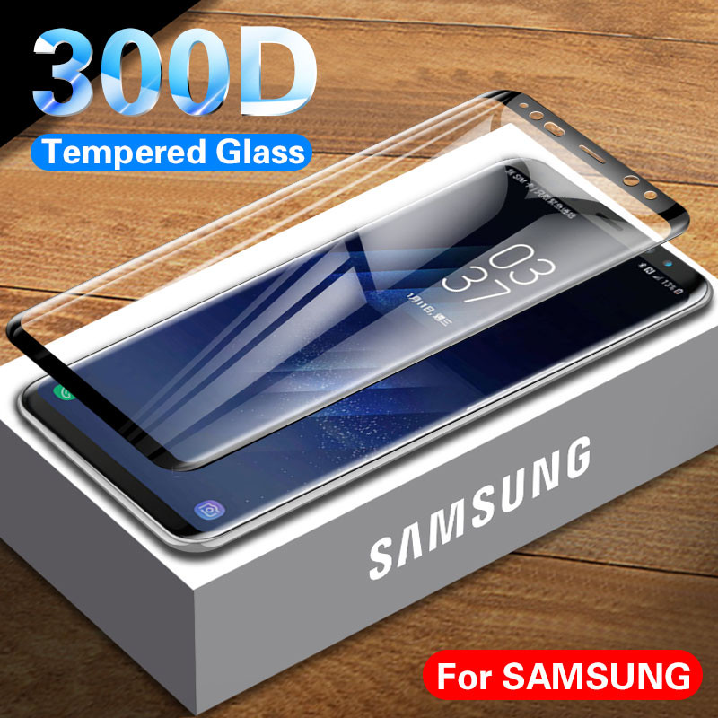 Curved Tempered Glass On Samsung Galaxy S9 S8 Plus Note 9 8  Screen Protector For Samsung S7 Edge Protective Glass On Samsung S9