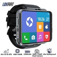 LOKMAT-reloj inteligente APPLLP MAX para hombre, dispositivo con Android, cámara Dual, videollamadas, 4G, Wifi, 4 GB de RAM, 64 GB de ROM, banda desmontable