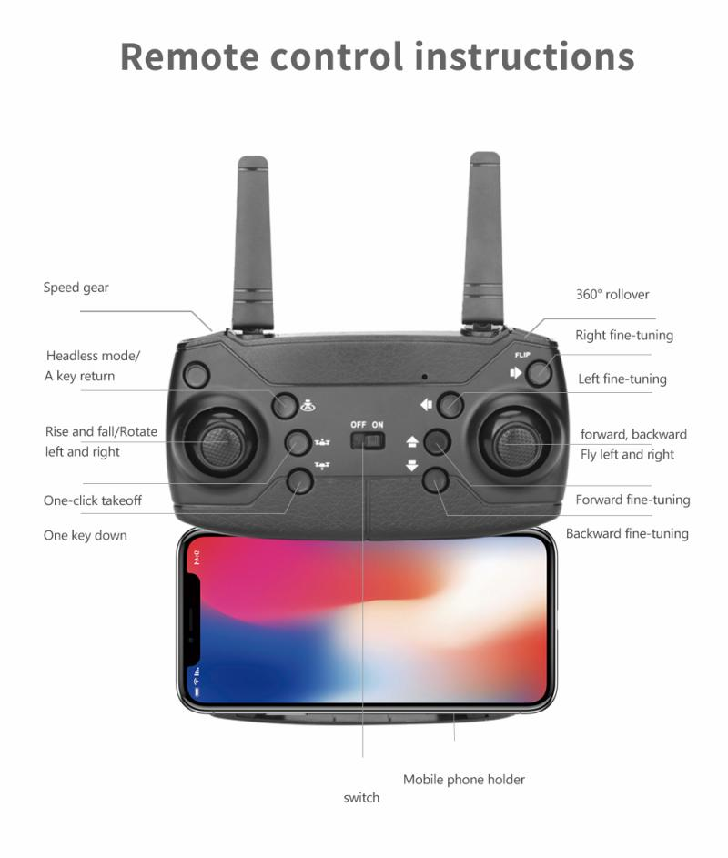 H72824b9ad60546dd912787d50d3b53c5R - E99 PRO RC Drone 4K HD Dual Camera WiFi FPV Foldable Automatic Return Professional Aerial Drone K3 Dron Toy Gift For Adult Kids