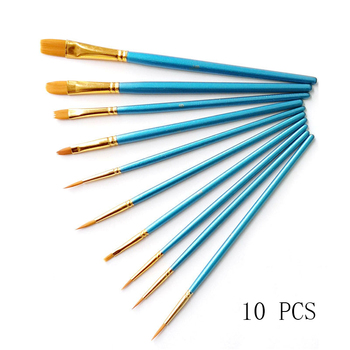 10Pcs set of acrylic paints for painting brushes by numbers Paint Brushes Round Pointed Tip Nylon Hair art supplies