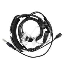 NEW 3.5mm قابل للتعديل الحلق هيئة التصنيع العسكري سماعة ميكروفون سرية الصوتية أنبوب سماعة مع إصبع PTT آيفون أندرويد الغوغاء