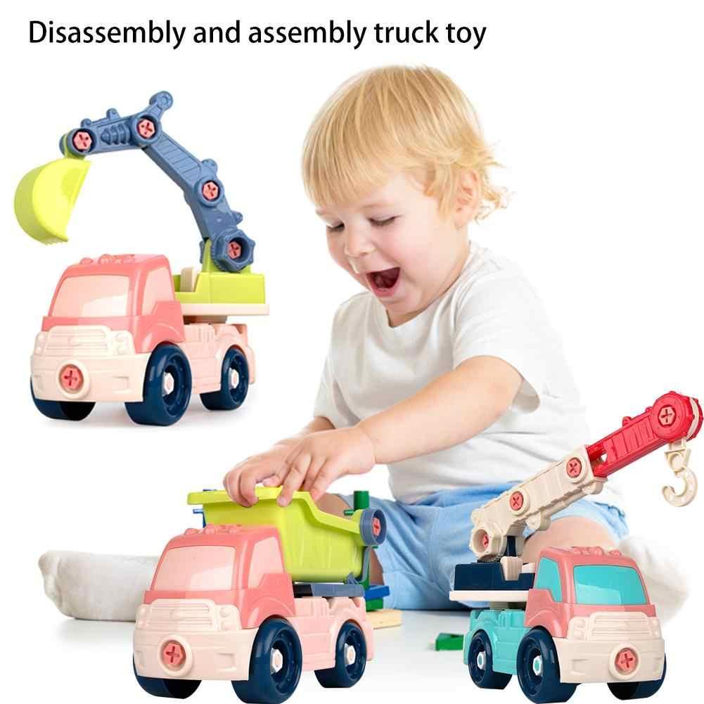 Balita Mini Mobil Mainan Inersia Mobil Kendaraan Konstruksi Truk Mainan Gesekan Didukung Push Bermain Game Bayi Anak Mainan