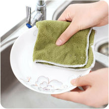 3 Pieces Microfiber Dishcloth Square Kitchen Washing Cleaning Towel Dish Cloth Rags Wipe