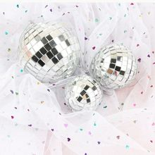 1pcs Diameter5/6/8cm Mirror Glass Disco Ball Reflective Decorative Bar  Wedding Cake Decor Hot Sale