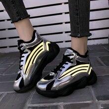 Большие размеры 35-43; Новинка года; Осенняя обувь; женская обувь на плоской подошве; женские кроссовки для бега и отдыха; крутая обувь черного цвета на платформе для девушек