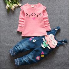 BibiCola Cartoon Baby Girls Clothing Sets Kids Outfit Clothes Tops T-shirt Pants Fashion Autumn Children Girls Tracksuit Sets cheap Active Full Pullover O-Neck 6578 REGULAR Coat COTTON spandex Fits true to size take your normal size
